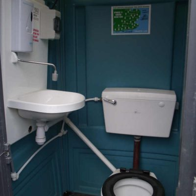Mains connected portable toilet hire