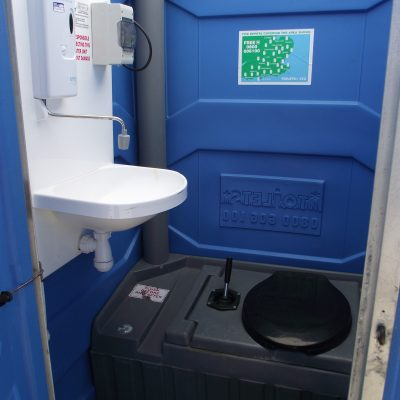 Chemical Toilet Hire With Hot Water Internal