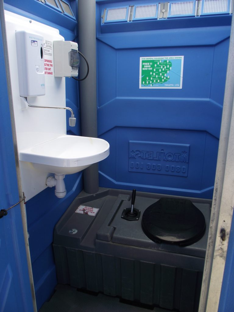 Chemical Toilet Hire with Hot Water Sink | Toilets +