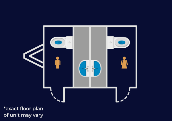 1+1 unit floorplan